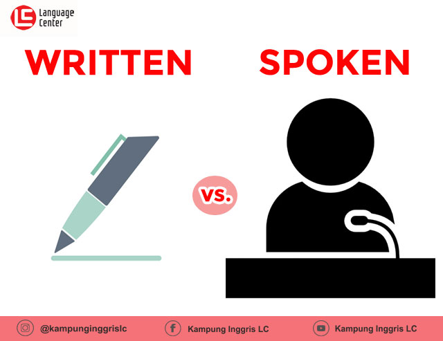 written english vs spoken english